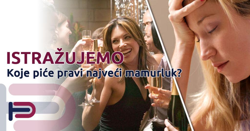 Koji alkohol stvara najveći mamurluk?
